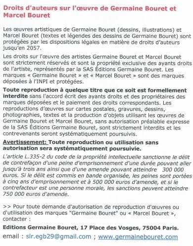 germaine bouret,droits,auteur,cartes,faux